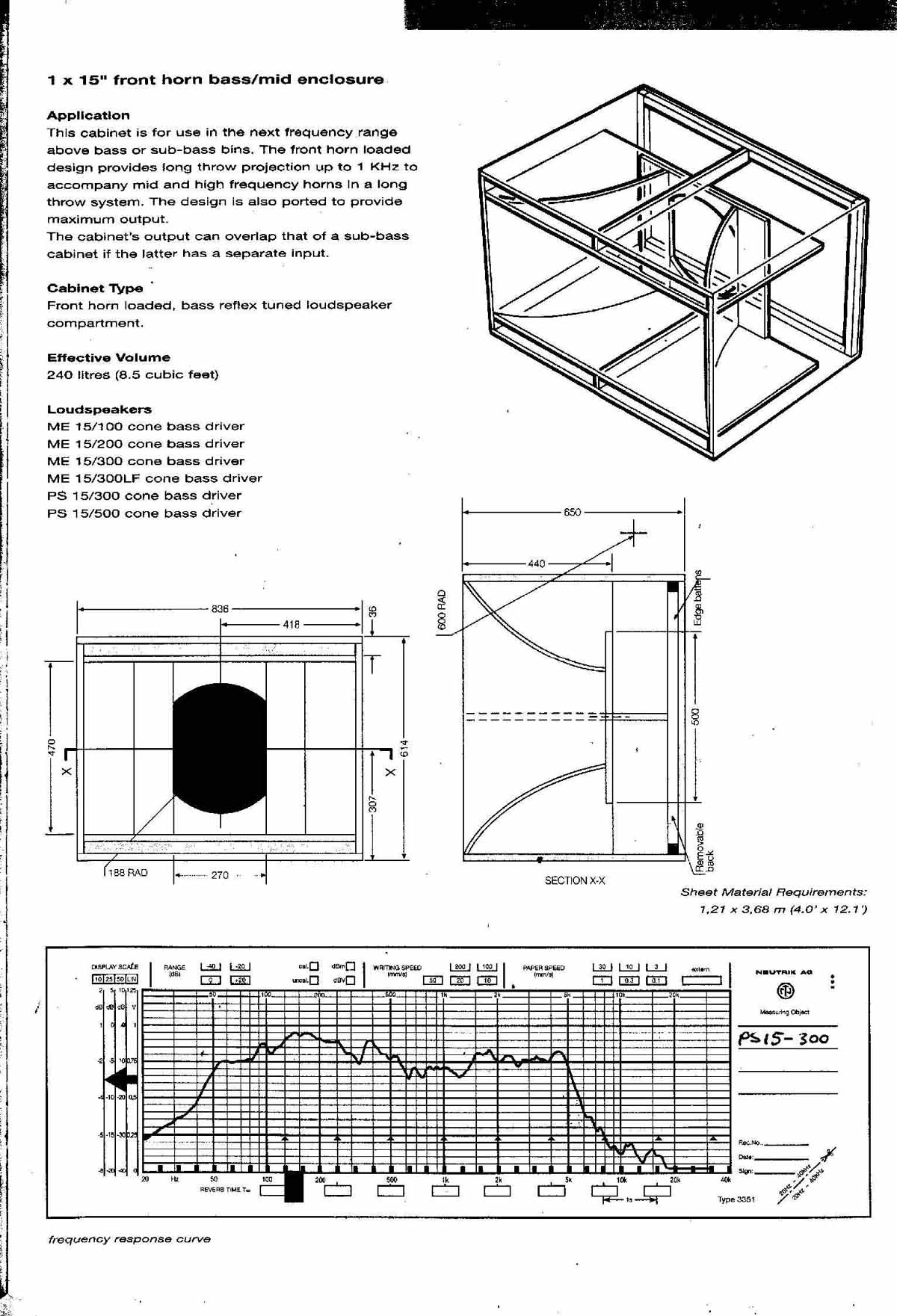Plans | Pro Audio Speaker Cabinet Design