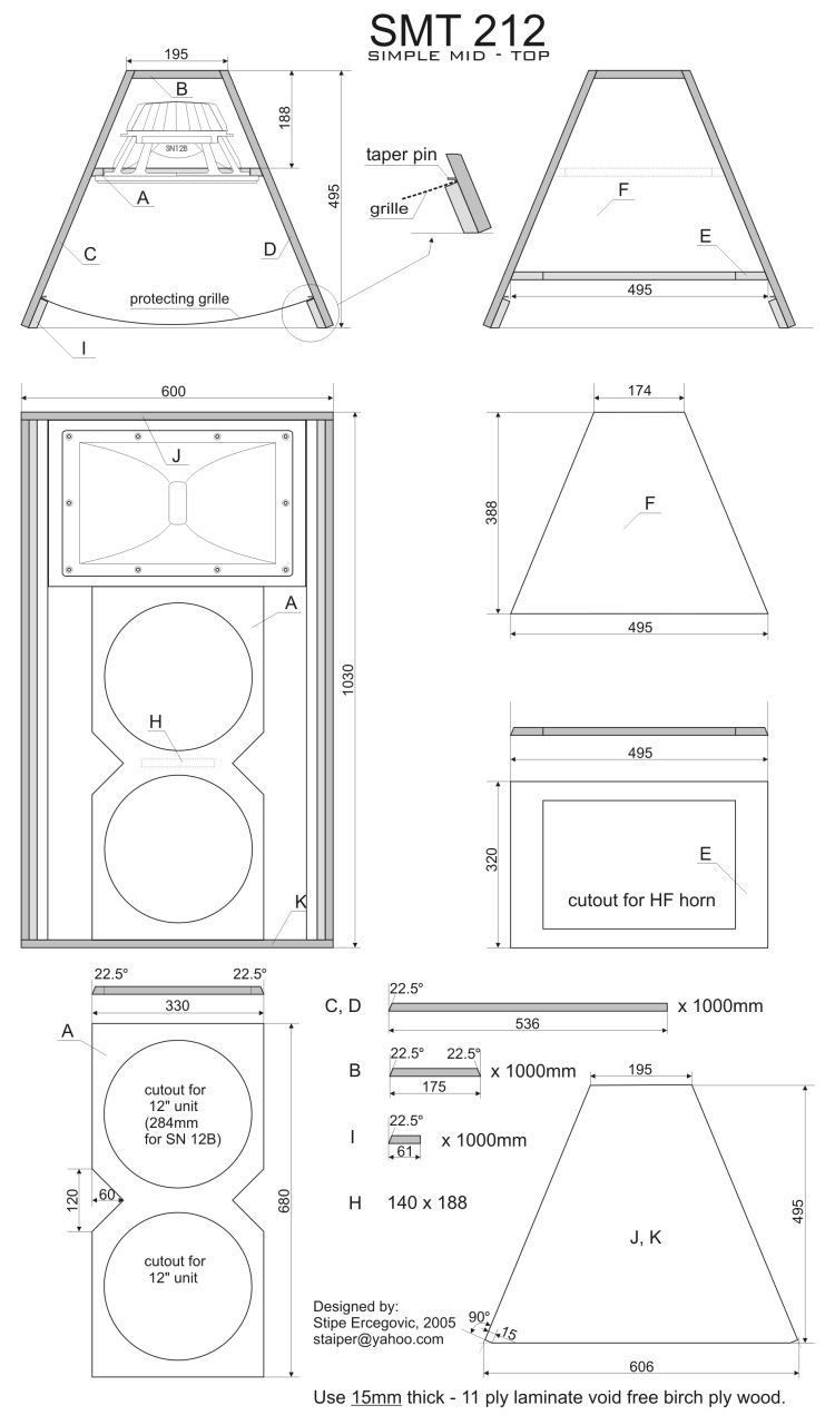 Plans Pro Audio Speaker Cabinet Design